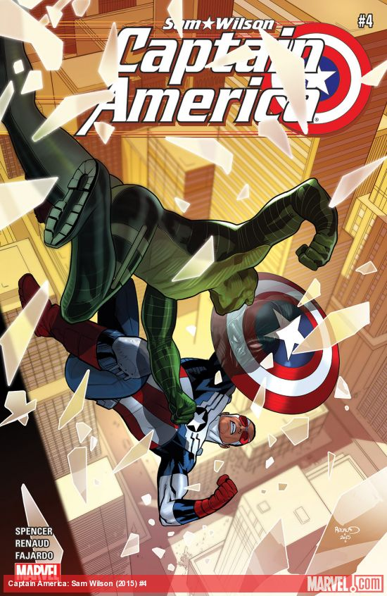 Captain America: Sam Wilson #4 cover by Paul Renaud (Photo Credit: Marvel)