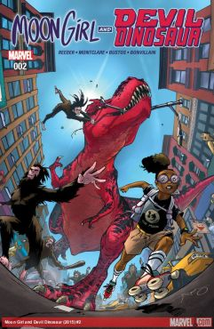 Moon Girl and Devil Dinosaur #2 cover by Amy Reeder (Photo Credit: Marvel)