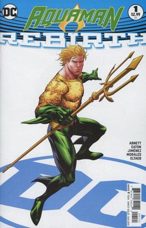 Aquaman: Rebirth Variant Cover B by Ryan Benjamin (Photo Credit: Midtown Comics)