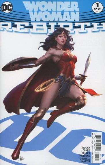 Wonder Woman: Rebirth #1 Cover A by Stanley Artgerm Lau (Photo Credit: Midtown Comics)